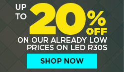 Up to 20% Off our already low prices. LED BR30s starting at $3.49.