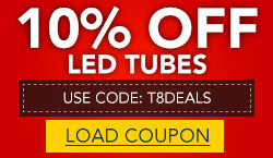 10% Off Our Entire Stock of LED Tubes