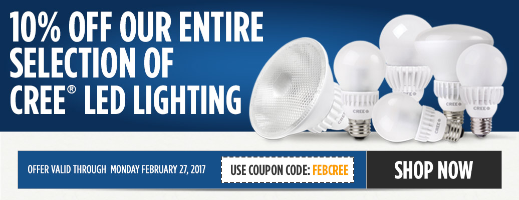 10% Off Cree Lighting and Fixtures!