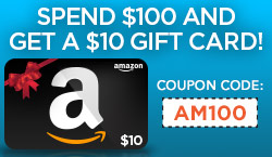 $10 Amazon Gift Card With $100 Purchase