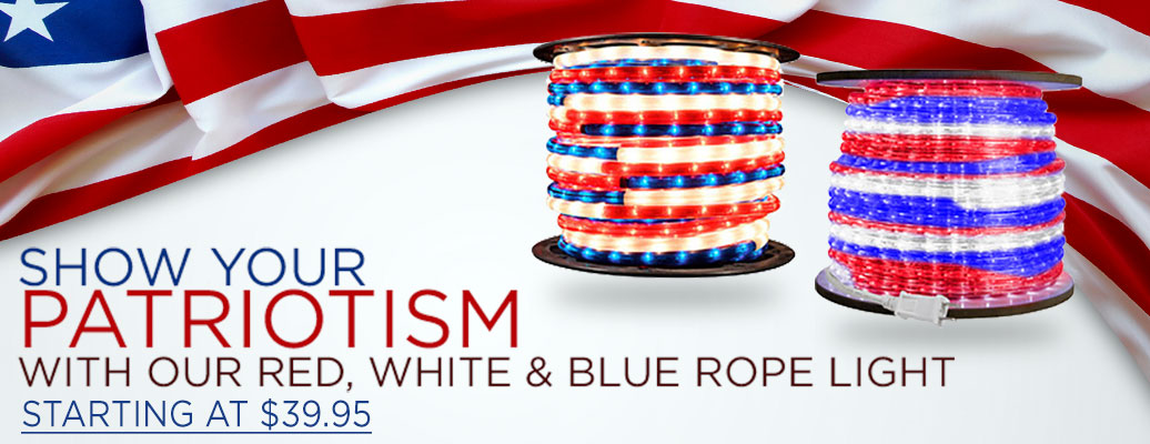 Red, Blue, and White Rope Light