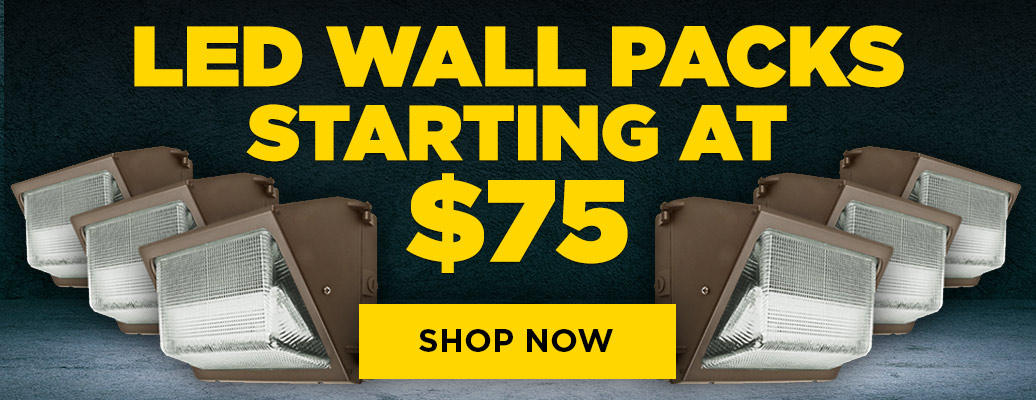 LED Wall Packs from $75!