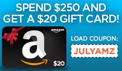 $20 Amazon gift card with a $250 purchase