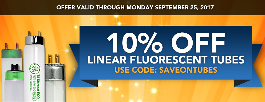 10% off Fluorescent Tubes