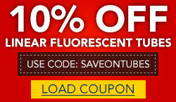 10% off Linear Fluorescent Tubes