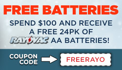 Spend $100, get a FREE 24pk of Batteries