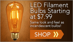 LED Antique Filament Bulbs