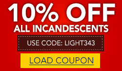 10% Off All Incandescent Bulbs