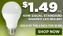 $1.49 Standard Shaped LED