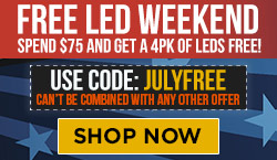 PDP-Free LEDs with $75 Purchase