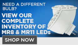 LED MR8 and MR11 Bulbs