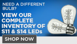 LED S11 and S14 Light Bulbs