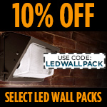 10% Off Select LED Wall Packs - Category Image