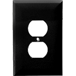 Wall Plates - Duplex Receptacle Wall Plates - Black - Category Image