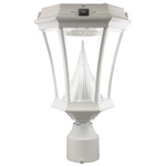 White Finish - Solar Post Top Lamps - Category Image