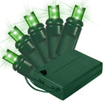 Green LED Wide Angle Battery Powered Lights - Category Image