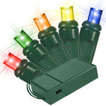 Multi-Color LED Wide Angle Battery Powered Lights - Category Image