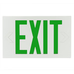 Green Letters - White LED Exit Signs - Category Image