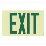 White Single Face Photoluminescent Exit Signs - Category Image