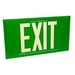 Green Single Face Photoluminescent Exit Signs - Category Image