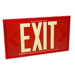 Red Single Face Photoluminescent Exit Signs - Category Image