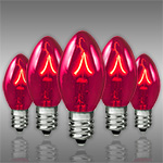 Pink C7 Incandescent Christmas Light Bulbs - Category Image