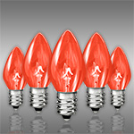 Amber-Orange C7 Christmas Light Bulbs - Category Image