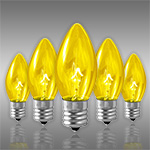 Yellow C9 Incandescent Christmas Light Bulbs