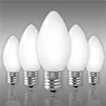 White C9 Incandescent Christmas Light Bulbs