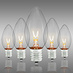 Clear C9 Incandescent Christmas Light Bulbs - Category Image
