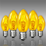 Yellow C7 Incandescent Christmas Light Bulbs