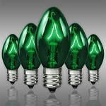 Green C7 Incandescent Christmas Light Bulbs - Category Image