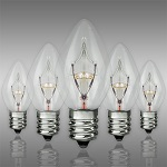 Clear C7 Incandescent Christmas Light Bulbs - Category Image