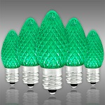 Green C7 LED Christmas Light Bulbs - Category Image