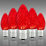 Red C7 LED Christmas Light Bulbs - Category Image