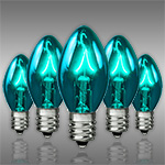 Teal C7 Incandescent Christmas Light Bulbs - Category Image