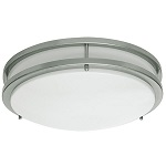 Flush Ceiling Fixtures Nickel Finish - Category Image