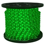 Green - LED Rope Light - 120V Spools