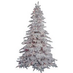 Flocked Spruce Christmas Trees - Category Image