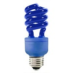 Blue Colored Compact Fluorescents
