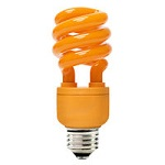 Orange Colored Compact Fluorescents