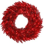 (INACTIVE)Red Tinsel Fir Christmas Wreaths - Category Image