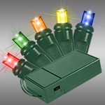 Green Wire LED Wide Angle Battery Powered Lights - Category Image
