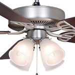 Nickel Ceiling Fans with Lights