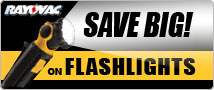 Save Big on Rayovac Flashlights