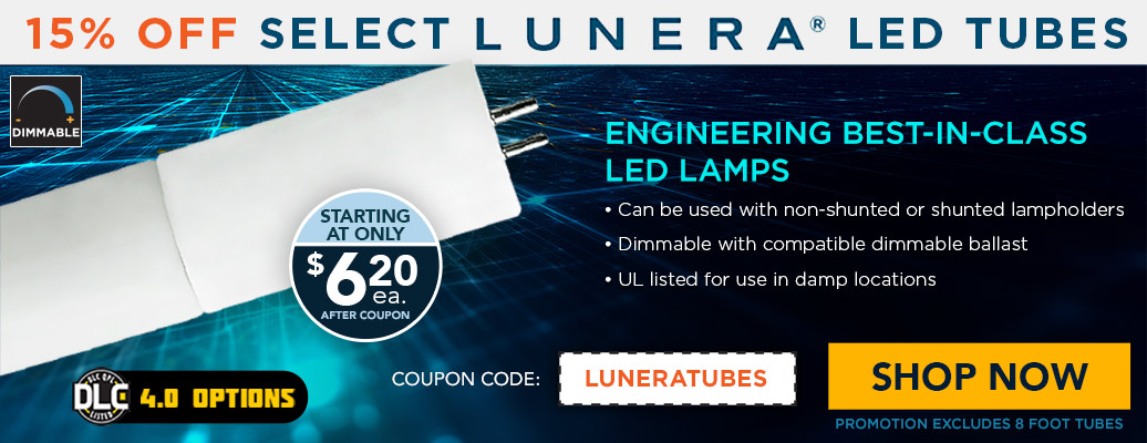 15% Off Select Lunera Tubes, starting at $6.20