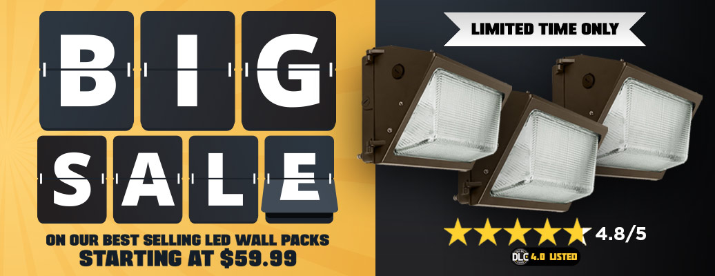 Clearance LED Wall Packs starting at $59.99