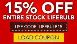 15% Off Entire Stock LifeBulb, Including LED Tubes