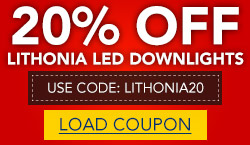 20% Off Entire Stock Lithonia Downlights