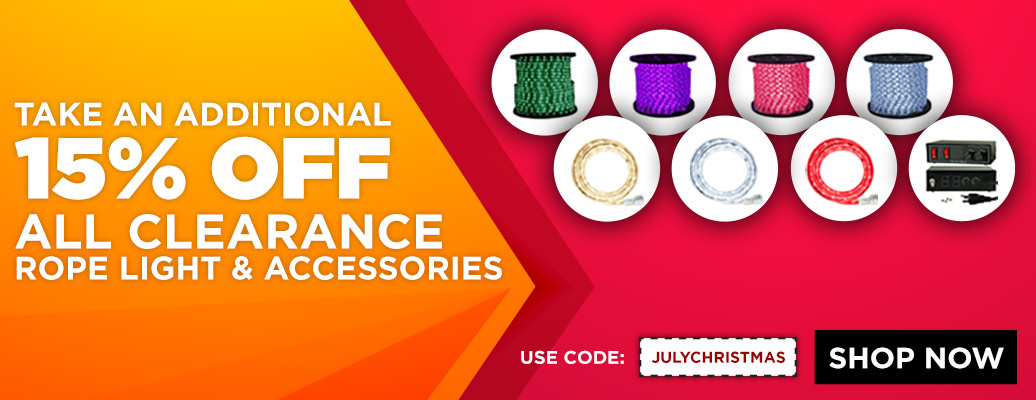 Additional 15% Off Rope Light Clearance